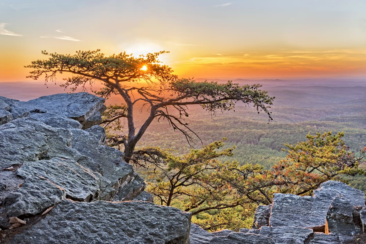 Alabama mountains. Cheaha Mountain State Park In Alabama