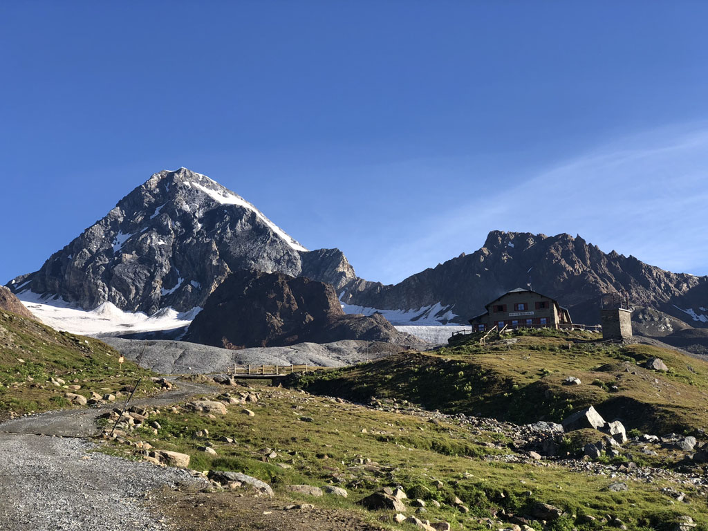 Gran Zebru of the Ortler group is one of the most beautiful mountains in the Alps