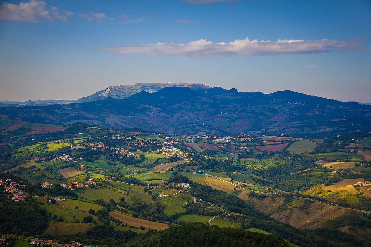Monte Carpegna as seen from San Marino