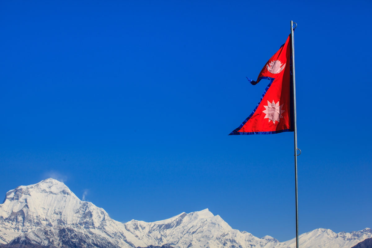 Mountains & Flags
