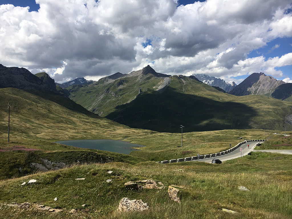 The high mountain pass of the Col du Petit Saint-Bernard